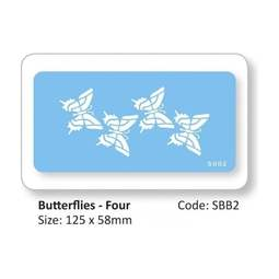 View the 4 Butterflies design icing stencil online at Cake Stuff