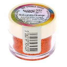 View the ORANGE HOLOGRAM sparkle food contact glitter 5g online at Cake Stuff