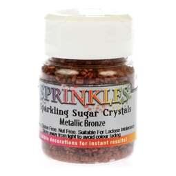 View the BRONZE metallic Sparkling Sugar Crystals sprinkles 50g online at Cake Stuff