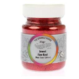 View the TRADE 35g FIRE RED JEWEL sparkle food contact glitter online at Cake Stuff
