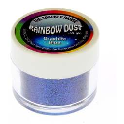 View the **CLEARANCE** BLUE GRAPHITE sparkle food contact glitter 5g online at Cake Stuff