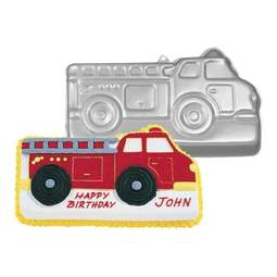 View the Fire Engine Truck Lorry cake tin / pan online at Cake Stuff