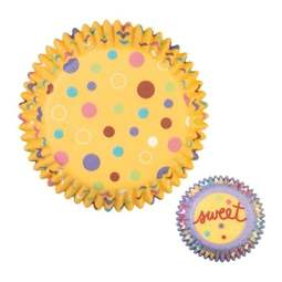 View the **CLEARANCE** SWEET DOTS cupcake baking cases - pk 75 online at Cake Stuff
