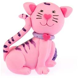 View the pink KITTEN / CAT claydough cake topper decoration online at Cake Stuff