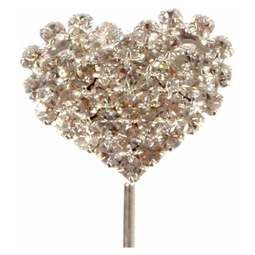 View the HEART - diamante cake pick online at Cake Stuff