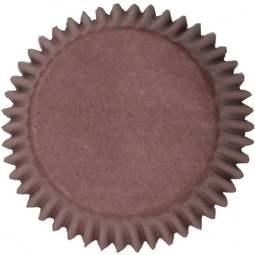 View the BROWN cupcake baking cases pk 50 online at Cake Stuff