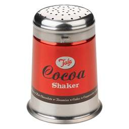 View the 1960s retro cocoa / chocolate icing shaker sifter stainless steel online at Cake Stuff