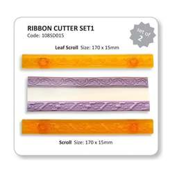 View the Ribbon Cutter set 1 - scroll & leaf icing cutters online at Cake Stuff