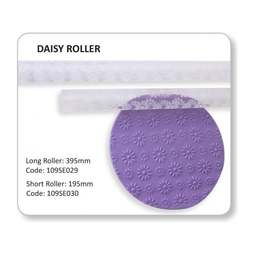 View the Daisy flower pattern textured rolling pin 19.5cm online at Cake Stuff