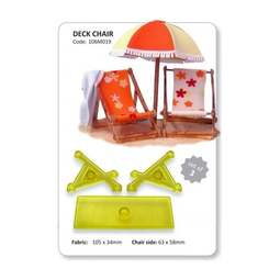 View the Deck Beach Chair 3 pc fondant icing cutter set online at Cake Stuff