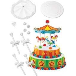 View the Carousel Cake 15 piece decorating pillar & separator set online at Cake Stuff