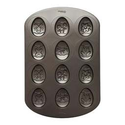 View the 12 cavity Easter Egg non stick cookie / cake pan mould online at Cake Stuff
