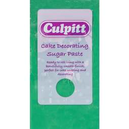 View the 250g GREEN Cake Decorating Sugar Paste ready to roll icing online at Cake Stuff