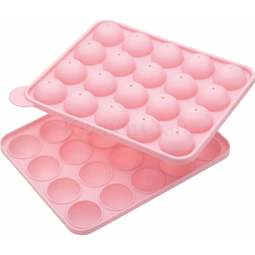 View the silicone 20 hole cake pop 2 piece mould baking pan online at Cake Stuff