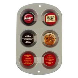 View the Recipe Right 6 cavity non-stick muffin & cupcake tin pan online at Cake Stuff