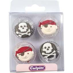 View the pk 12 PIRATES edible icing pipings cake cupcake decorations online at Cake Stuff