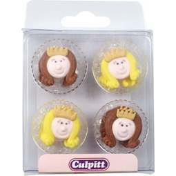 View the pk 12 LITTLE PRINCESS edible icing pipings cake cupcake decorations online at Cake Stuff