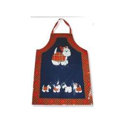 View the adults Tartan Terrier PVC cotton apron online at Cake Stuff