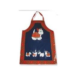 View the adults Tartan Terrier PVC cotton apron online at Cake Stuff