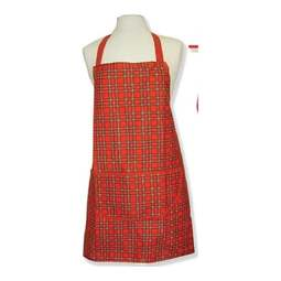 View the adults Royal Stewart Tartan luxury cotton drill apron online at Cake Stuff
