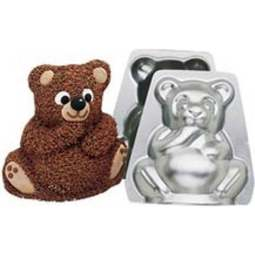 View the 3D small / mini Teddy Bear cake tin pan online at Cake Stuff