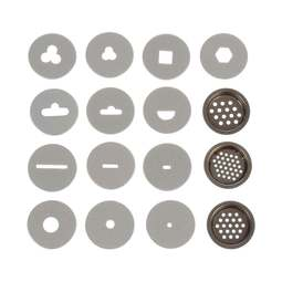 View the REPLACEMENT 16 disc set for sugarcraft extruder gun online at Cake Stuff