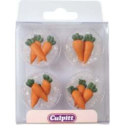View the pk 12 CARROTS edible icing pipings cake cupcake decorations online at Cake Stuff