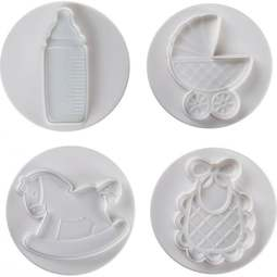 View the LARGE BABY 4 piece icing plunger cutter set online at Cake Stuff