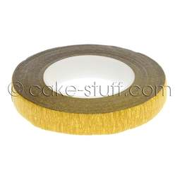 View the GOLD 12mm metallic sugarcraft floristry stem tape x 27m online at Cake Stuff