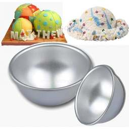 View the 9cm mini 3D Sports Ball Football / Boobs novelty cake tin pan mould online at Cake Stuff