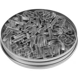 View the ALPHABET 26 pc stainless steel icing cutter set online at Cake Stuff