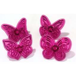 View the Lacy Butterflies 4pc cupcake fondant icing cutter set online at Cake Stuff
