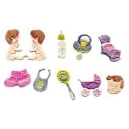 View the Nursery / Baby Tappit icing cutter set - 10 designs online at Cake Stuff