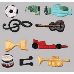 View the Music & Sport Tappit fondant icing cutter set (10 designs)  online at Cake Stuff
