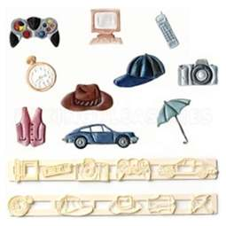 View the Mens & Boys Accessories Tappit icing cutter set - 10 designs online at Cake Stuff