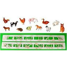 View the Domestic & Farm Animals Tappit icing cutter set - 12 designs online at Cake Stuff