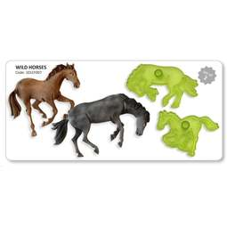 View the Wild Horses 2 pc fondant icing cutter impression set online at Cake Stuff