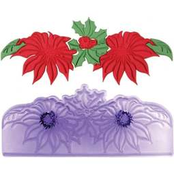 View the Christmas Poinsettia Border fondant icing gumpaste cutter online at Cake Stuff