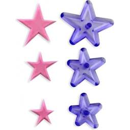 View the Funky Stars 3 pc fondant icing cutter set online at Cake Stuff