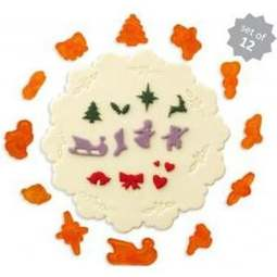 View the 12 pc Christmas & Wedding Miniatures icing cutter set online at Cake Stuff