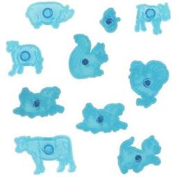 View the Animals & Wildlife 10 piece fondant icing cutter set online at Cake Stuff