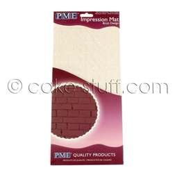 "View the BRICK DESIGN sugarpaste icing impression mat 12"" x 6"" online at Cake Stuff"