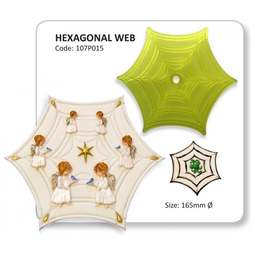 View the Hexagonal Spiders Web fondant icing cutter online at Cake Stuff