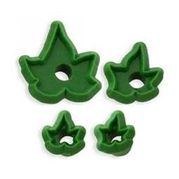View the 4 pc small Baby Ivy Leaves fondant icing gumpaste cutter set online at Cake Stuff