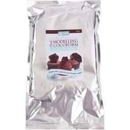View the bulk 1kg DARK COCOFORM chocolate modelling paste online at Cake Stuff