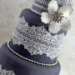 View the SERENITY cake / edible lace silicone tool mat online at Cake Stuff