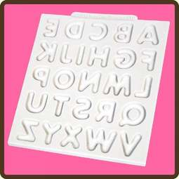 View the Domed Alphabet upper case design mat silicone sugarcraft mould online at Cake Stuff