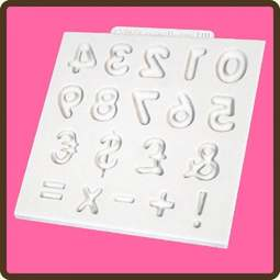 View the Domed Numbers design mat silicone sugarcraft mould online at Cake Stuff