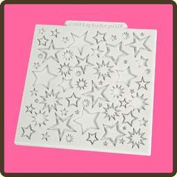 View the Starburst design mat silicone sugarcraft mould online at Cake Stuff