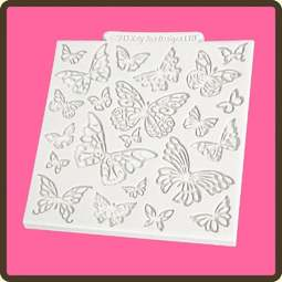 View the Butterfly design mat silicone sugarcraft mould online at Cake Stuff